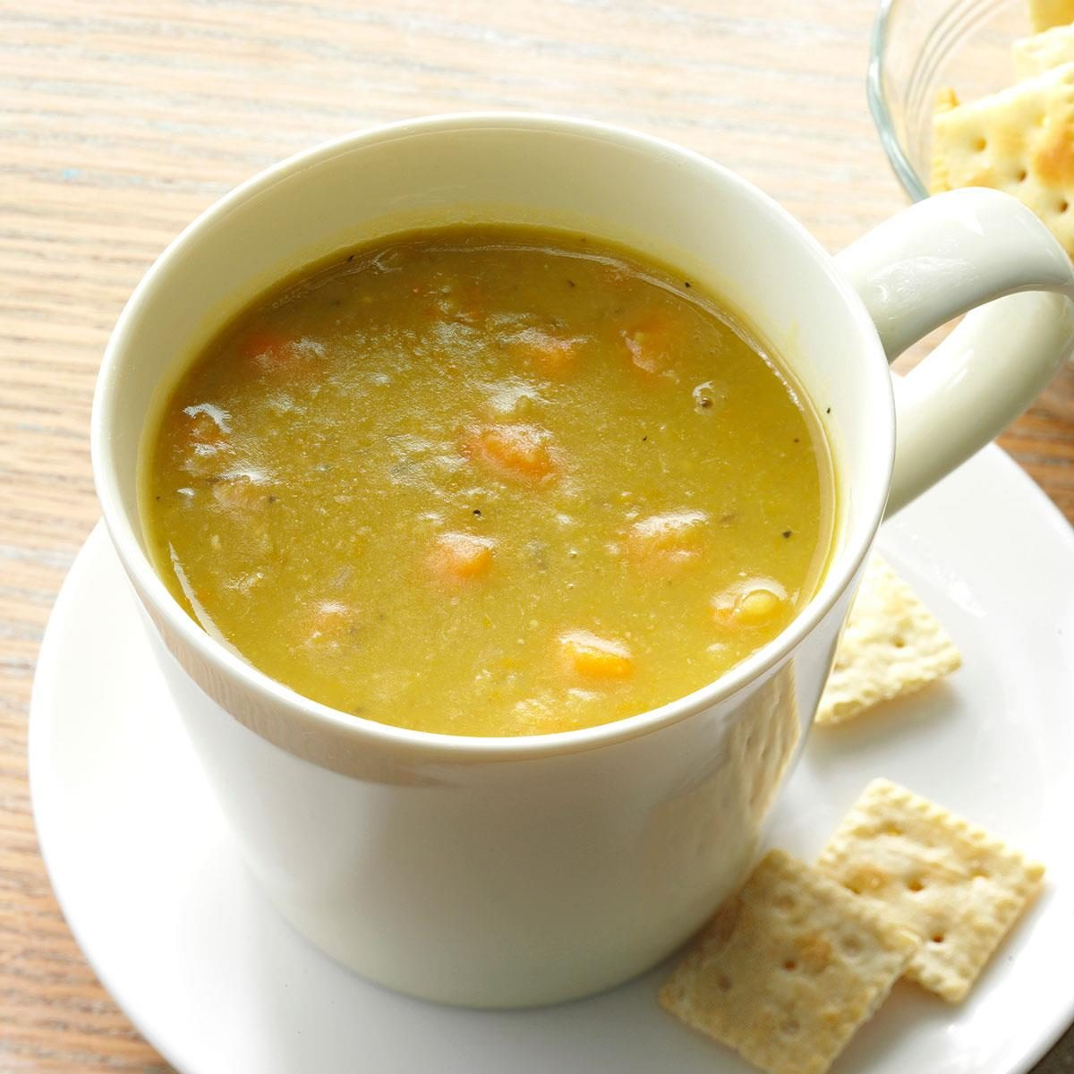 Hearty Vegetable Split Pea Soup Recipe | Taste of Home