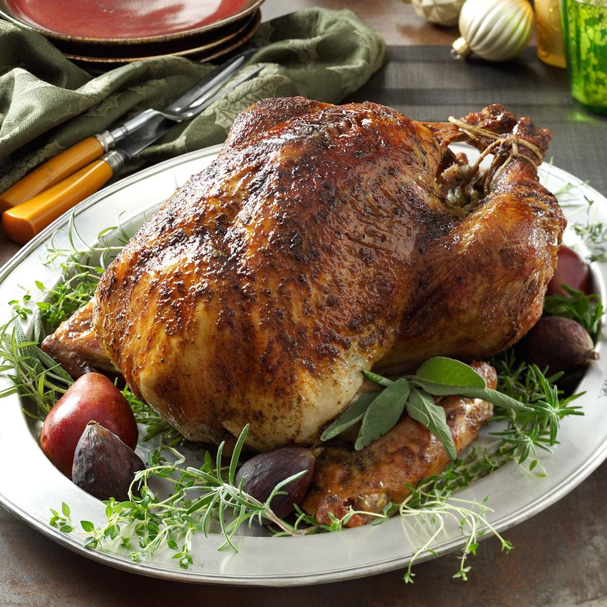 Herb-Brined Turkey Recipe | Taste of Home