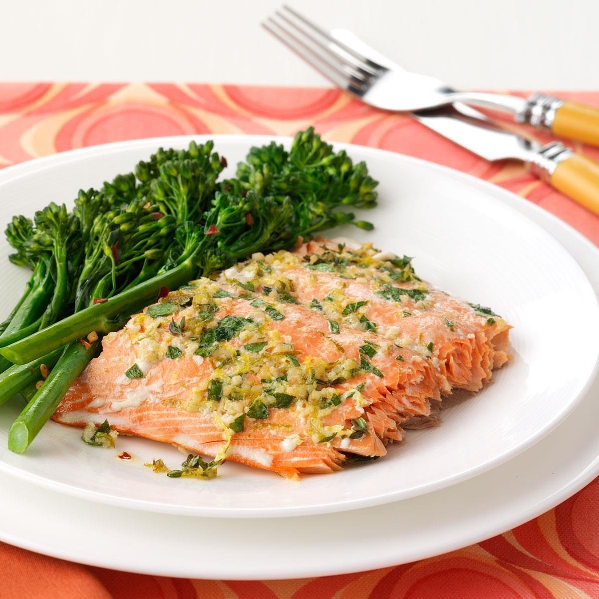 Herbed Salmon Fillet Recipe