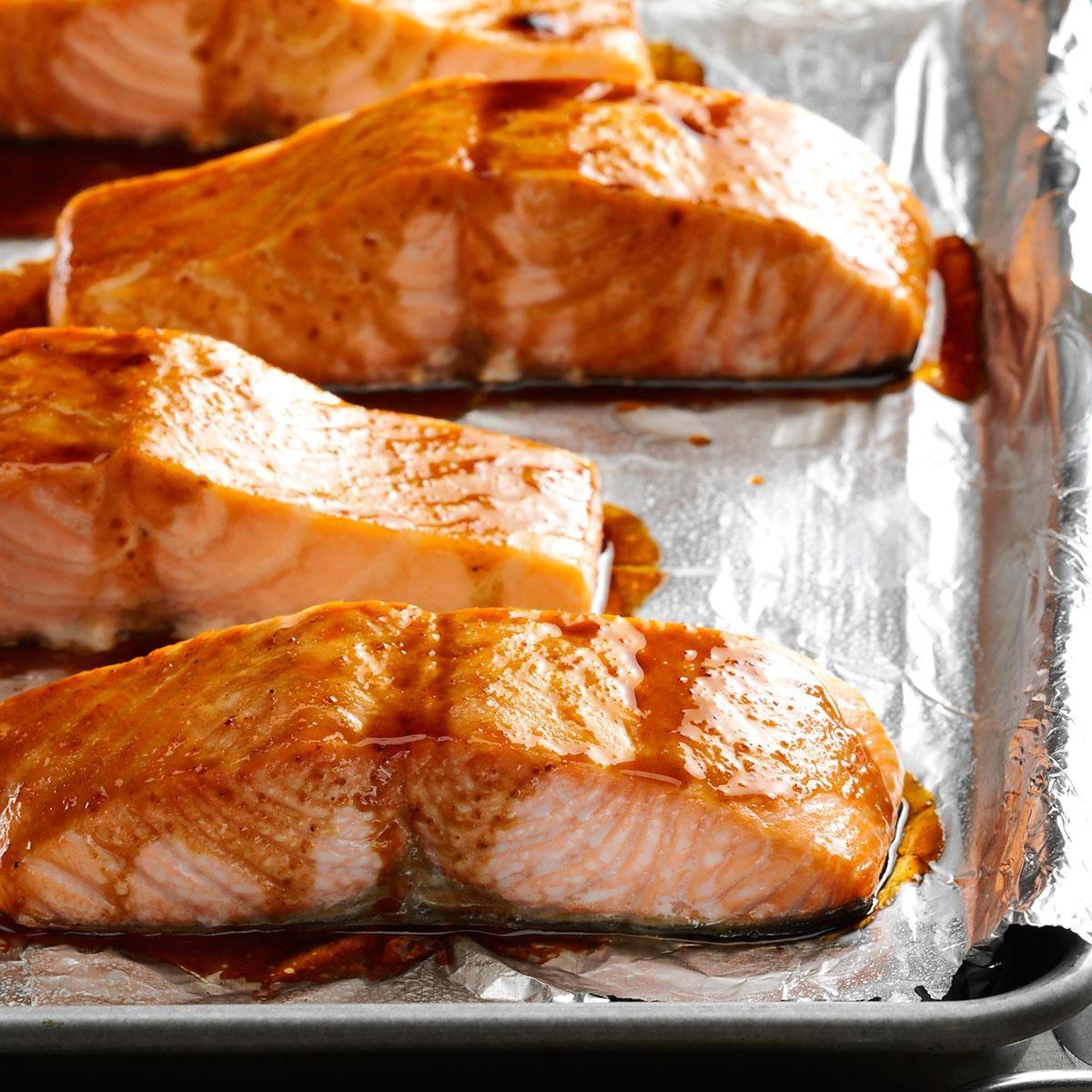 Recipe · Hoisin & Honey Glazed Salmon