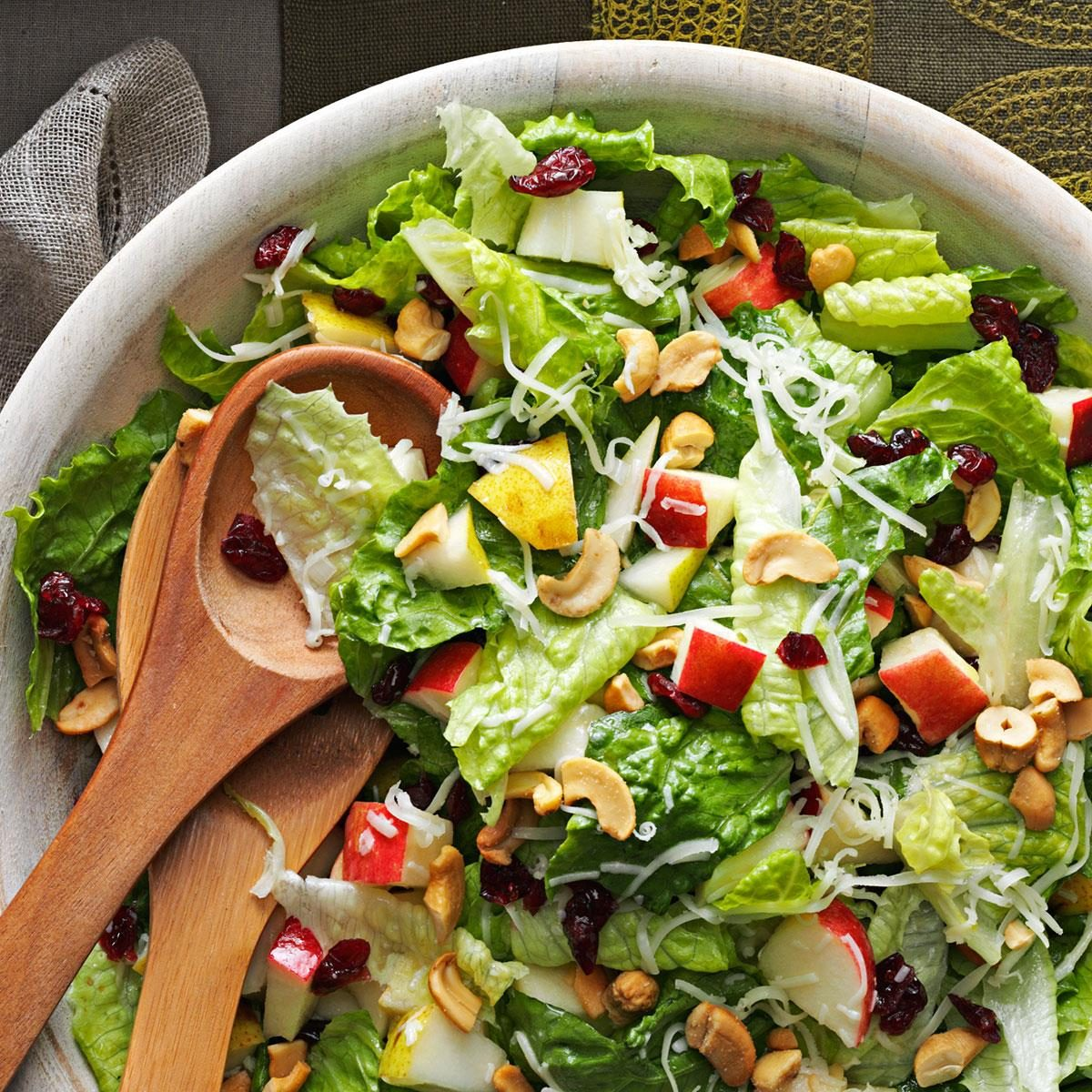 Holiday lettuce salad recipe taste of home for Salad for thanksgiving best recipes