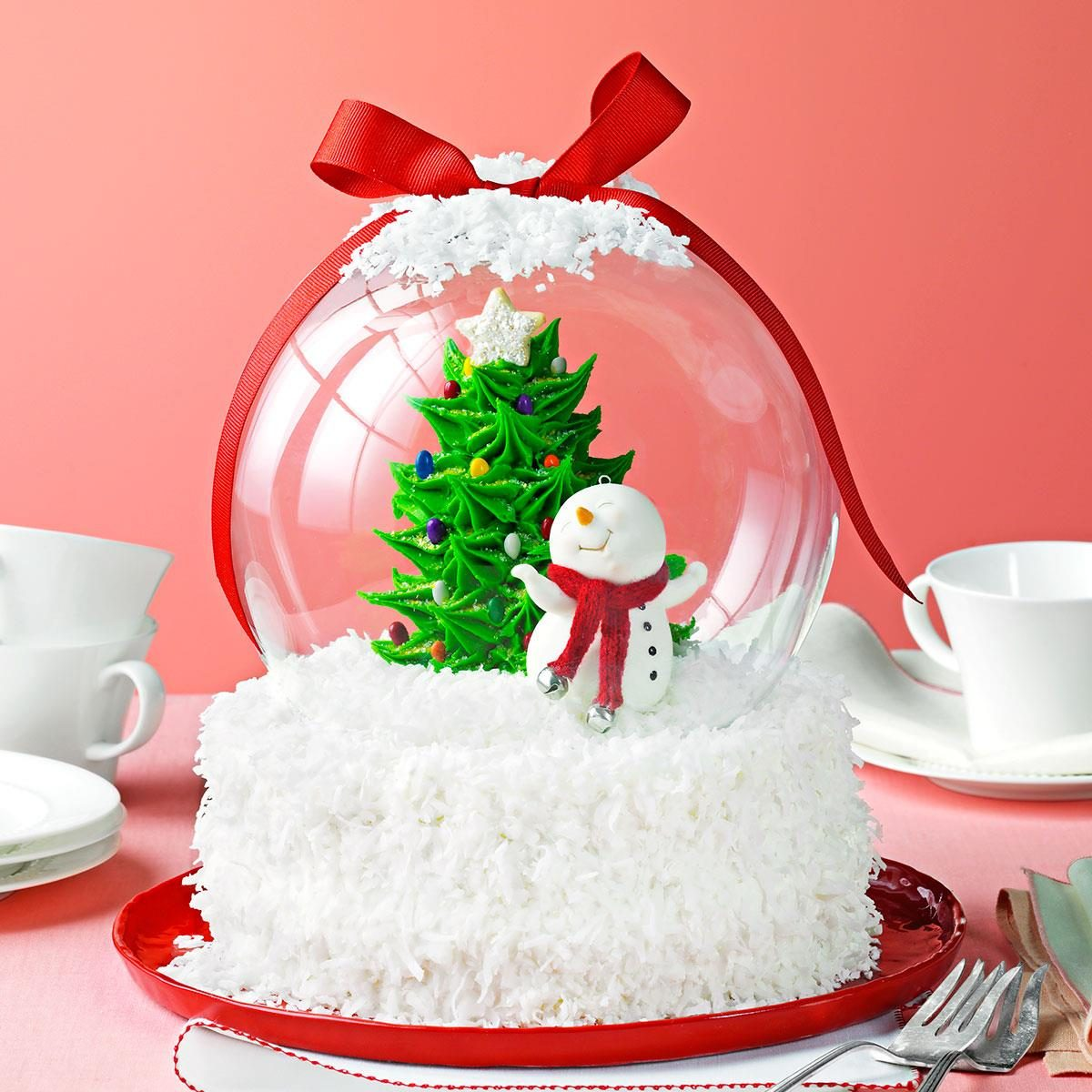 Holiday Snow Globe Cake Recipe | Taste of Home