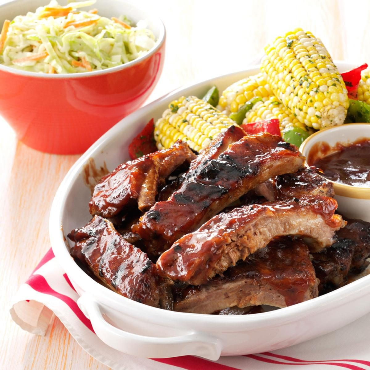 Honey beer braised ribs recipe taste of home for Side dishes for bbq ribs and chicken