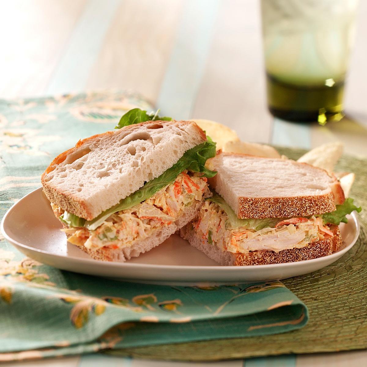 Italian Chicken Salad Sandwiches Recipe | Taste of Home
