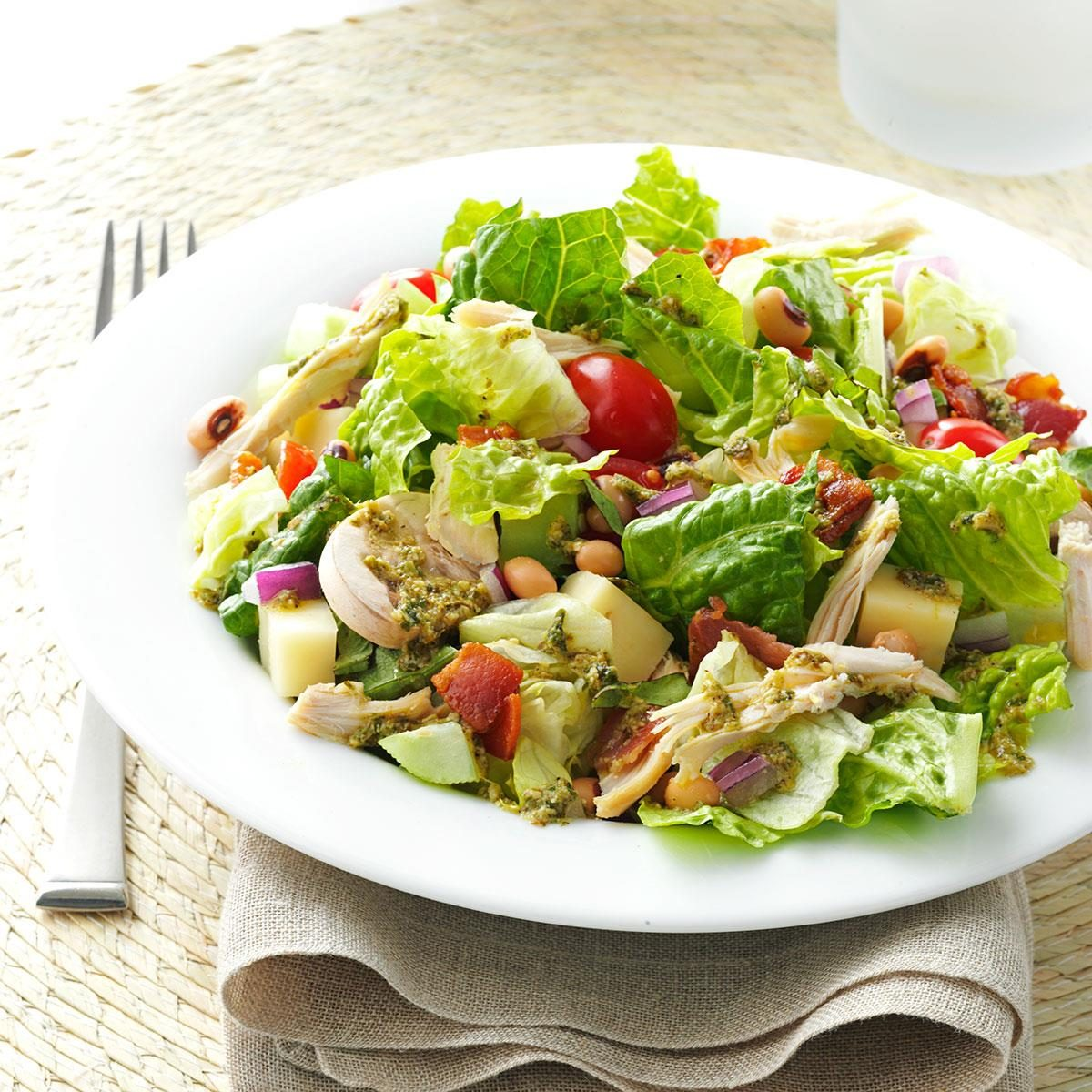 Italian Chopped Salad With Chicken Recipe Taste Of Home