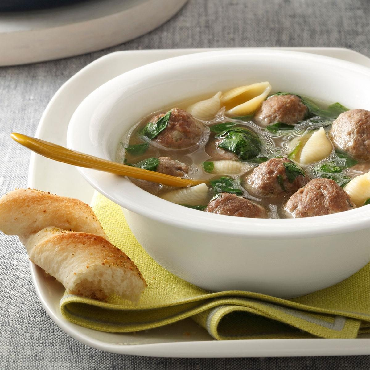 italian wedding soup recipe taste of home