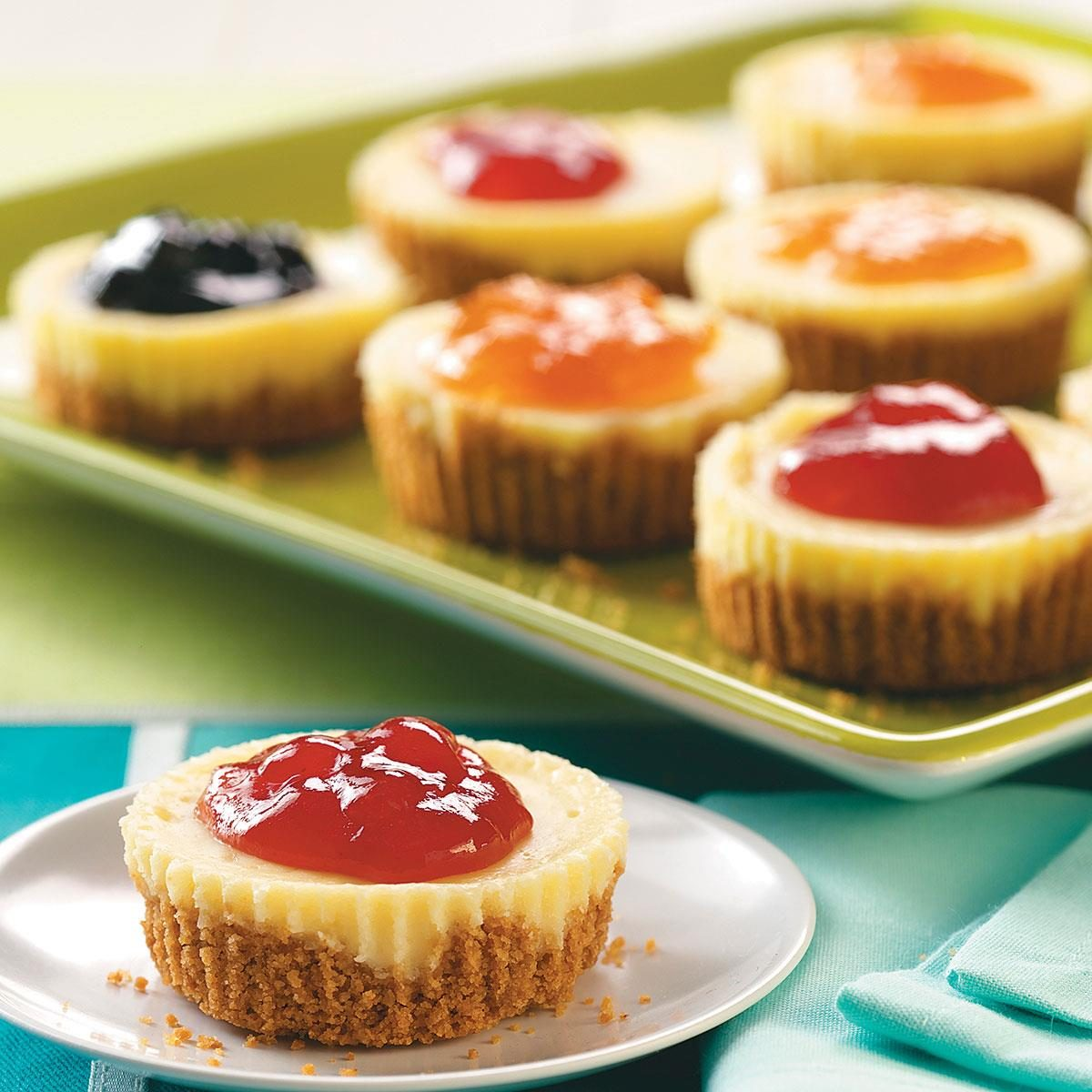 32 mini desserts youll love taste of home jam topped mini cheesecakes forumfinder Images