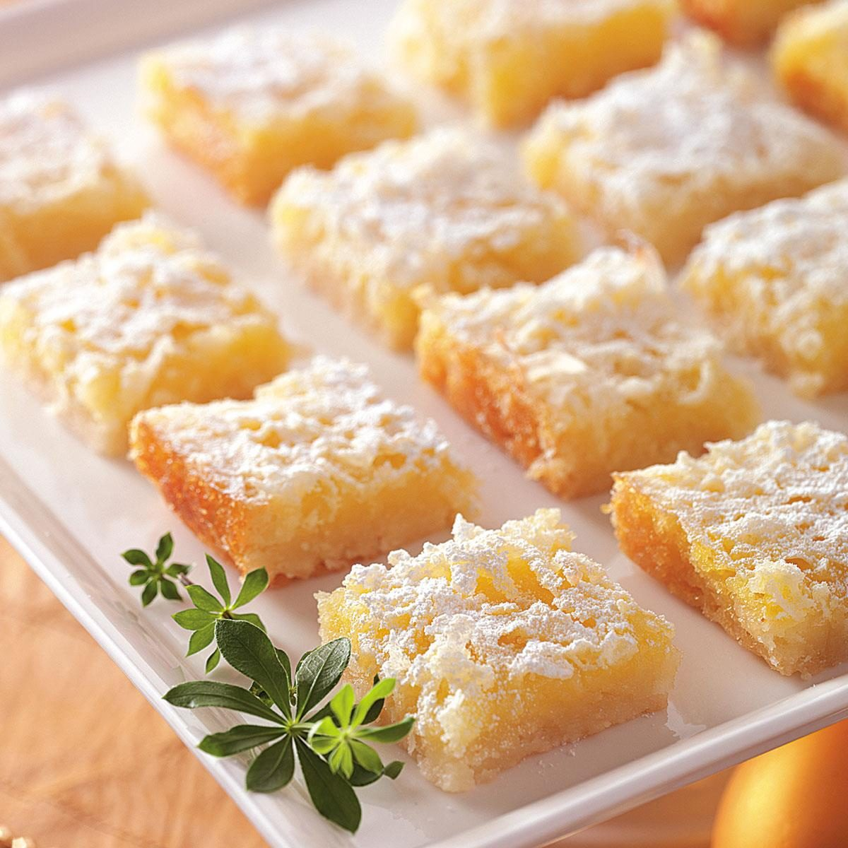 Coconut Lemon Squares Recipe — Dishmaps