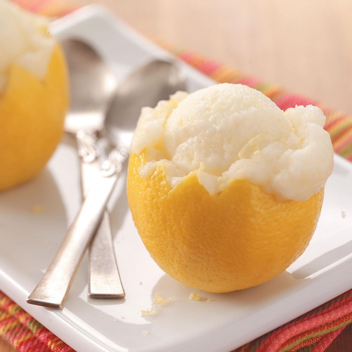 Lemon Sorbet Recipe | Taste of Home