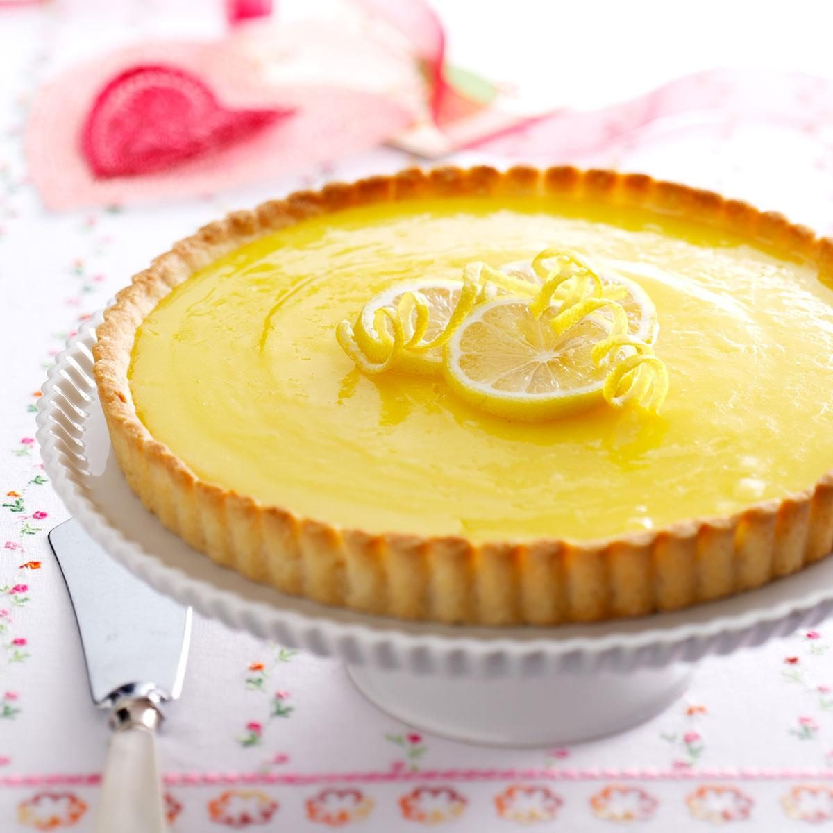 Lemon Tart with Almond Crust Recipe | Taste of Home