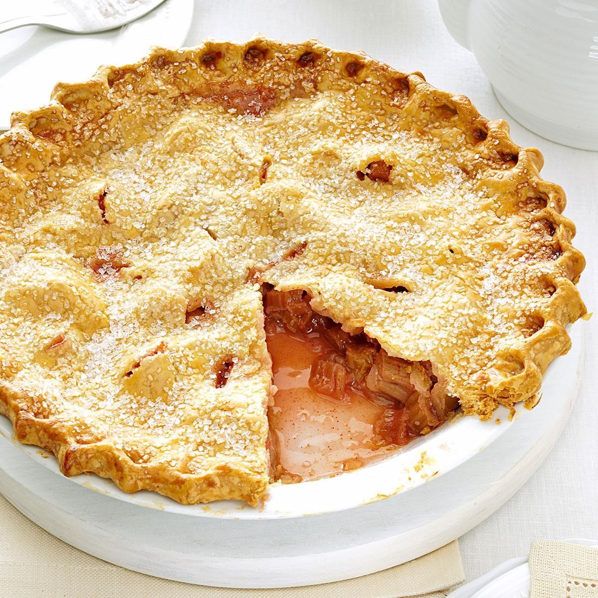 Lemony Rhubarb Pie Recipe | Taste of Home
