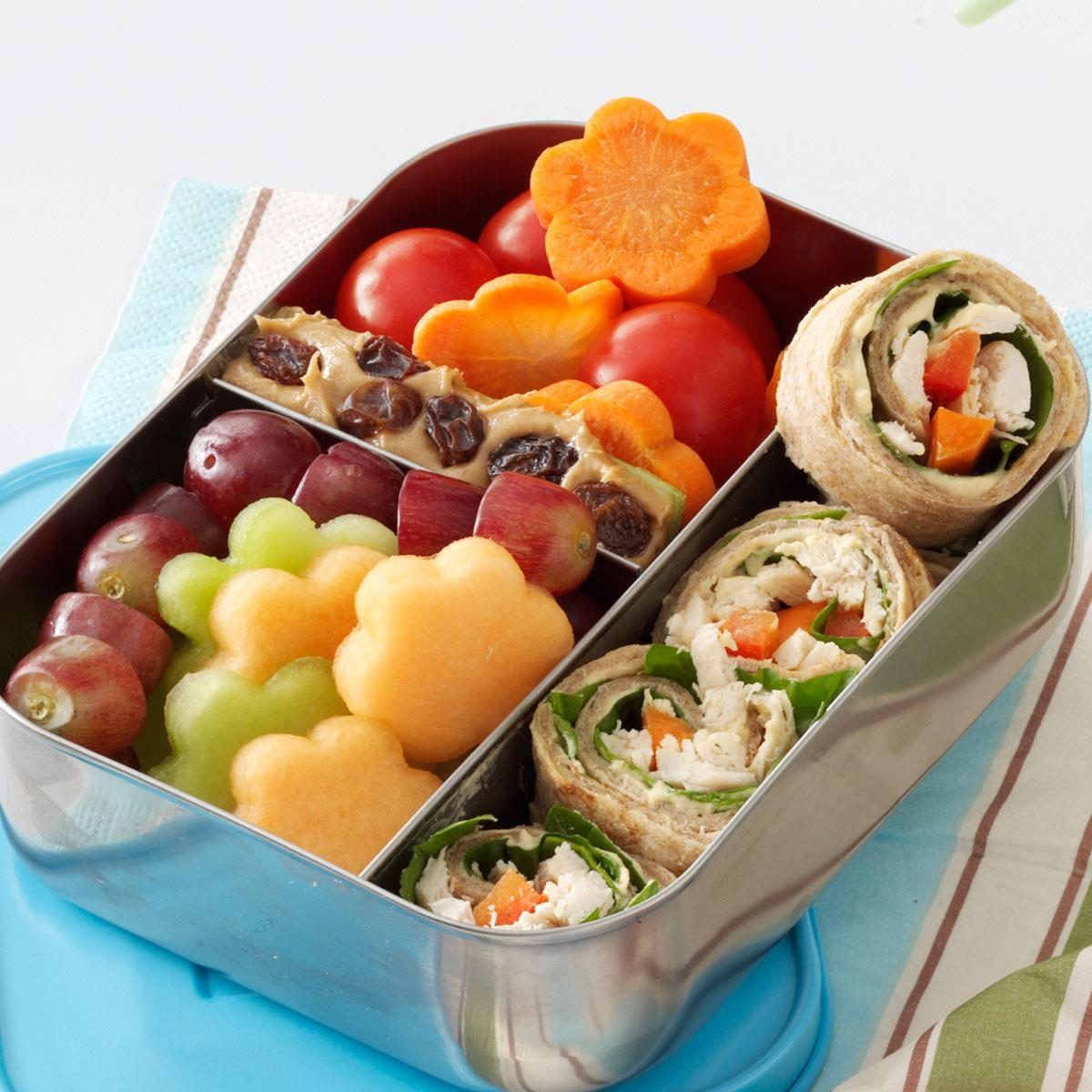 lunch box chicken wrap recipe taste of home. Black Bedroom Furniture Sets. Home Design Ideas