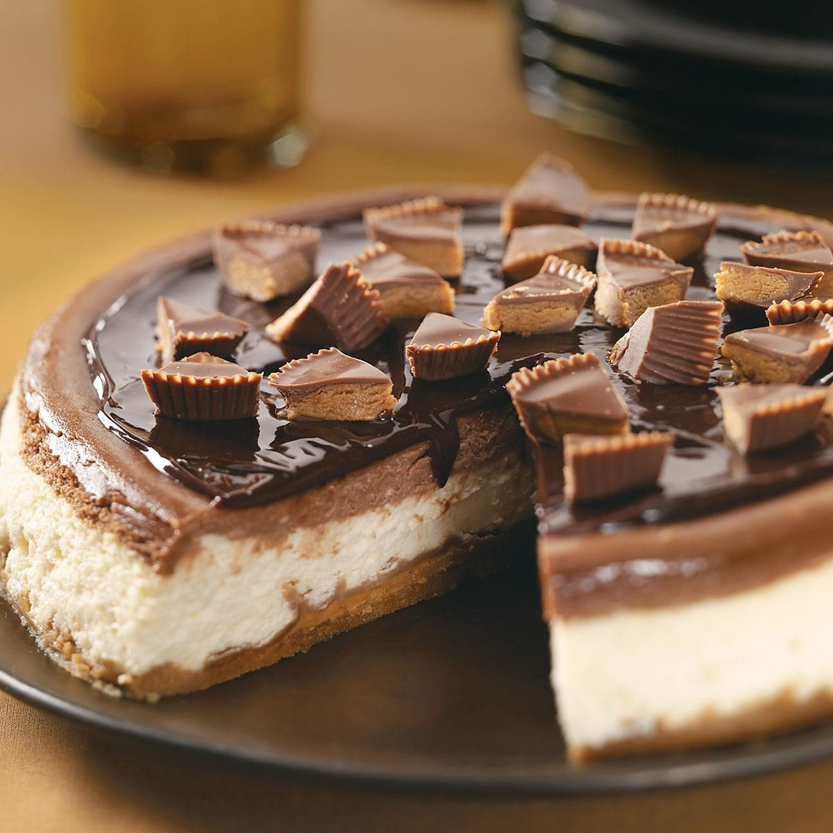 Makeover Peanut Butter Cup Cheesecake Recipe Taste Of Home