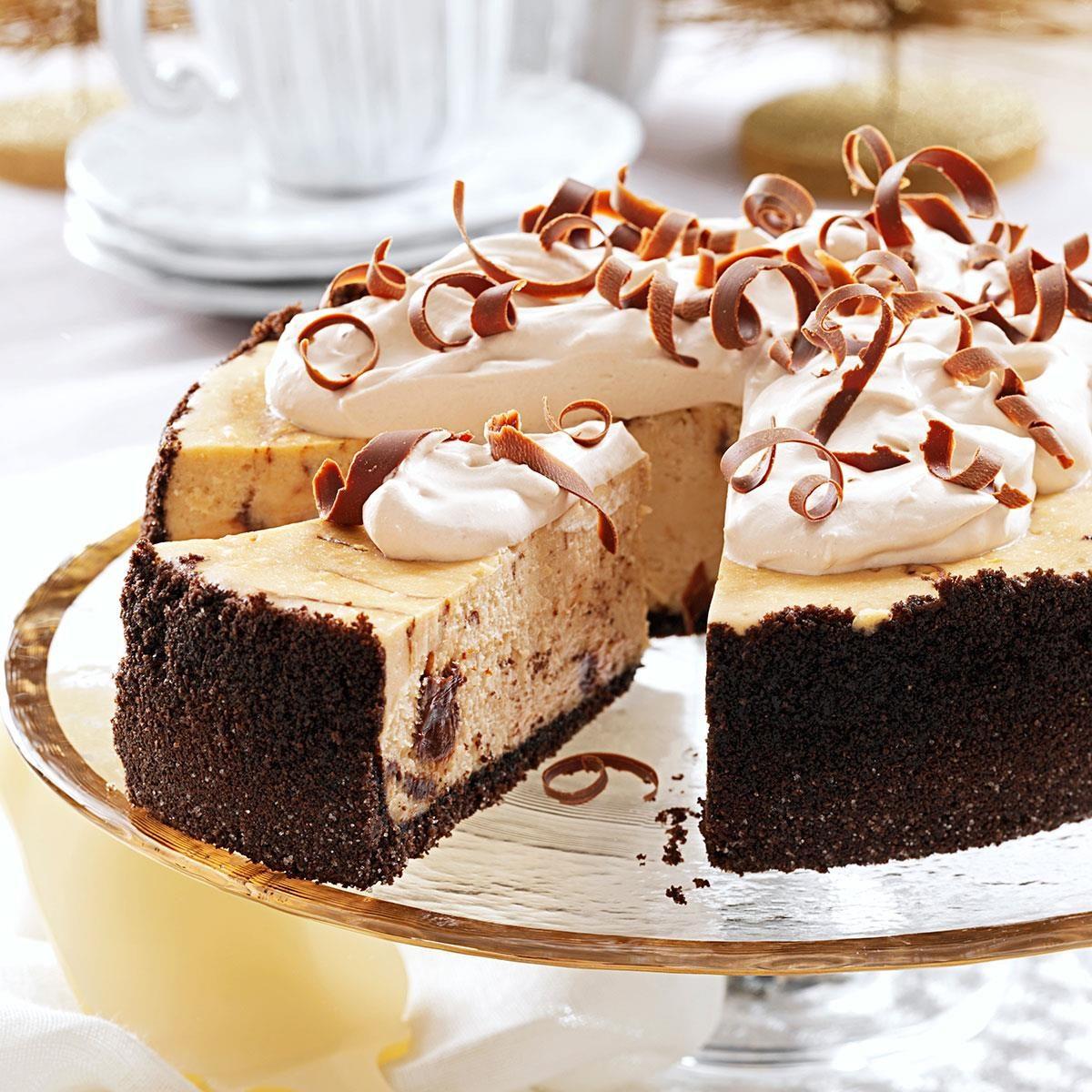 Marbled Cappuccino Fudge Cheesecake Recipe | Taste of Home