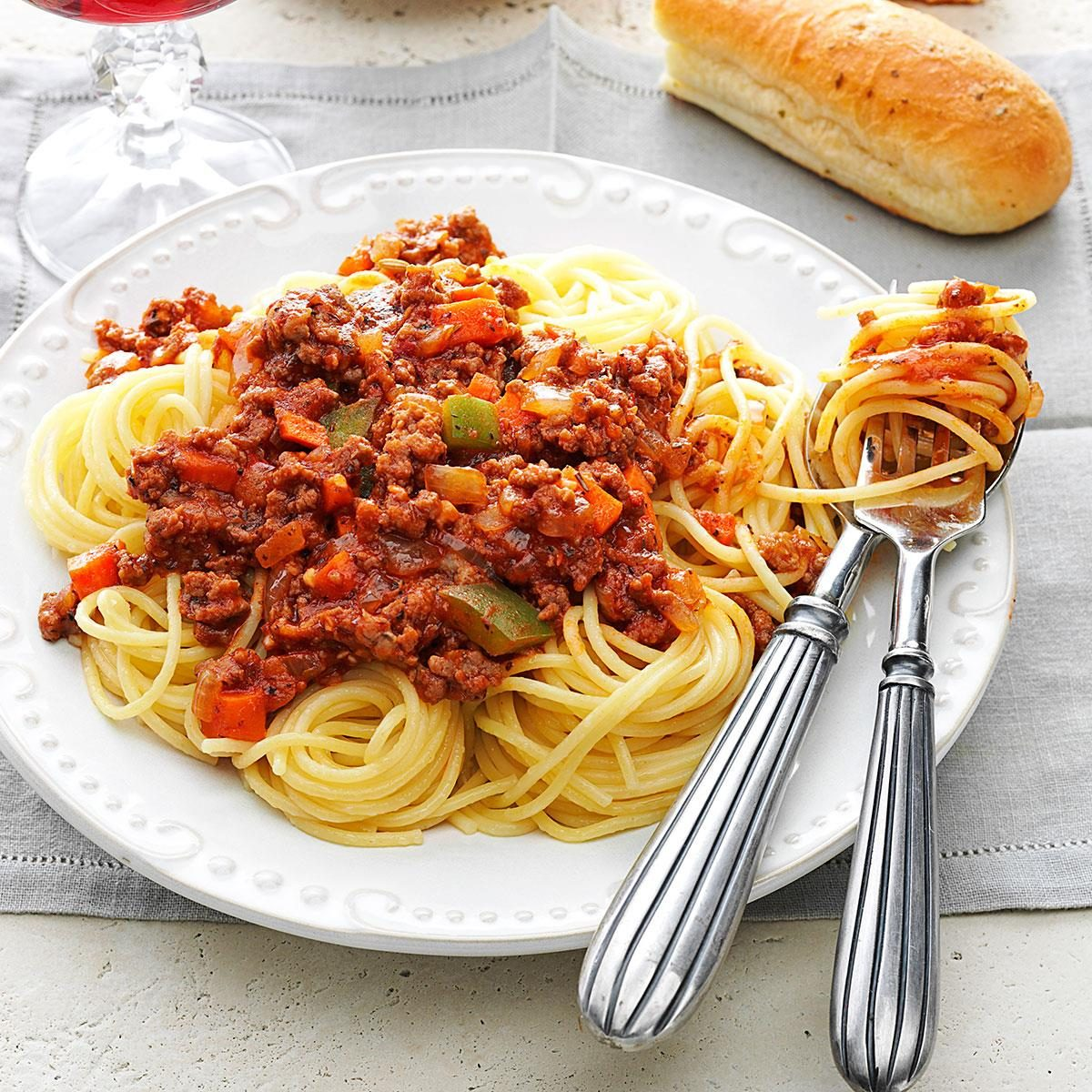 Meat Sauce For Spaghetti Recipe Taste Of Home