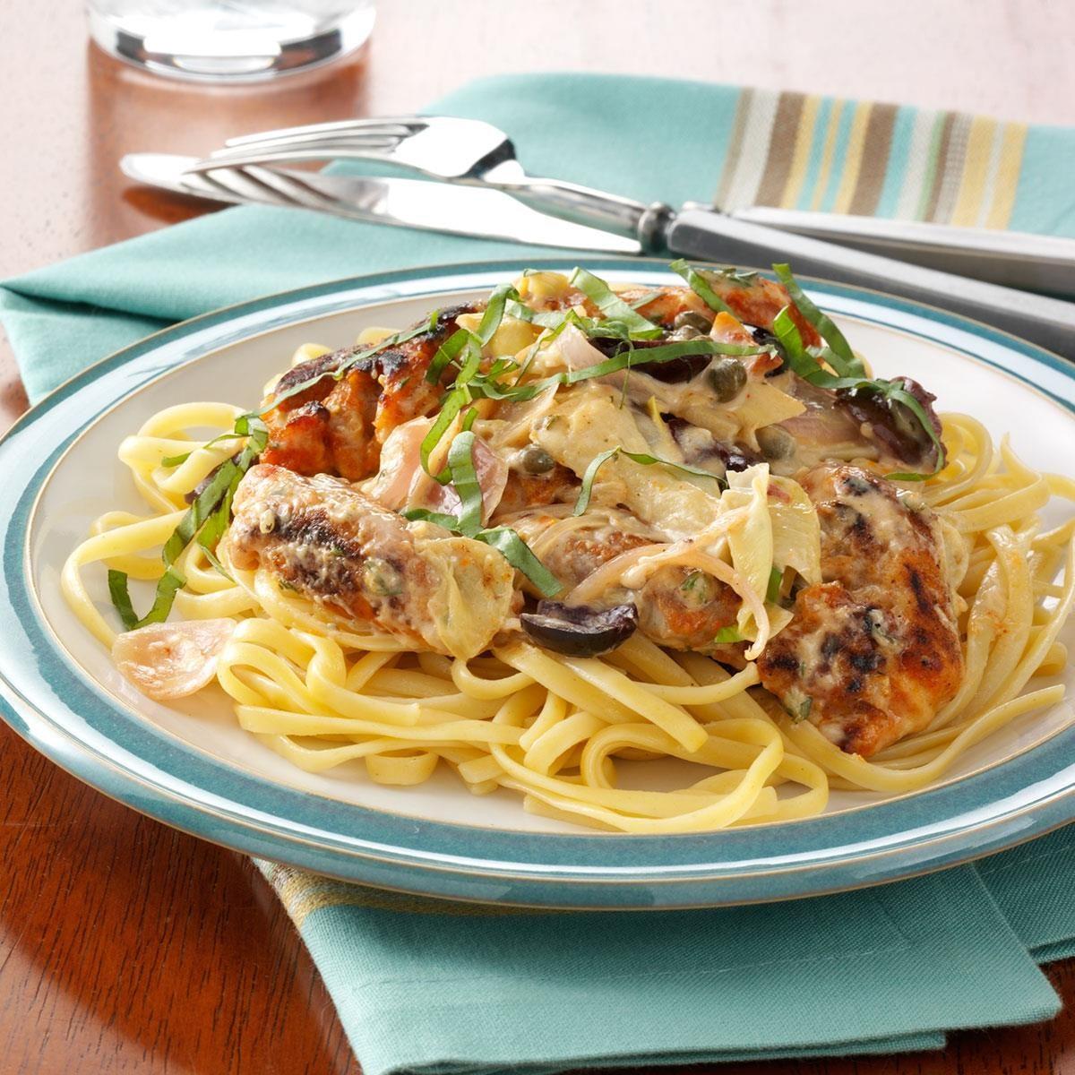 Lemon Chicken Mediterranean Style: Mediterranean Chicken In Creamy Herb Sauce Recipe