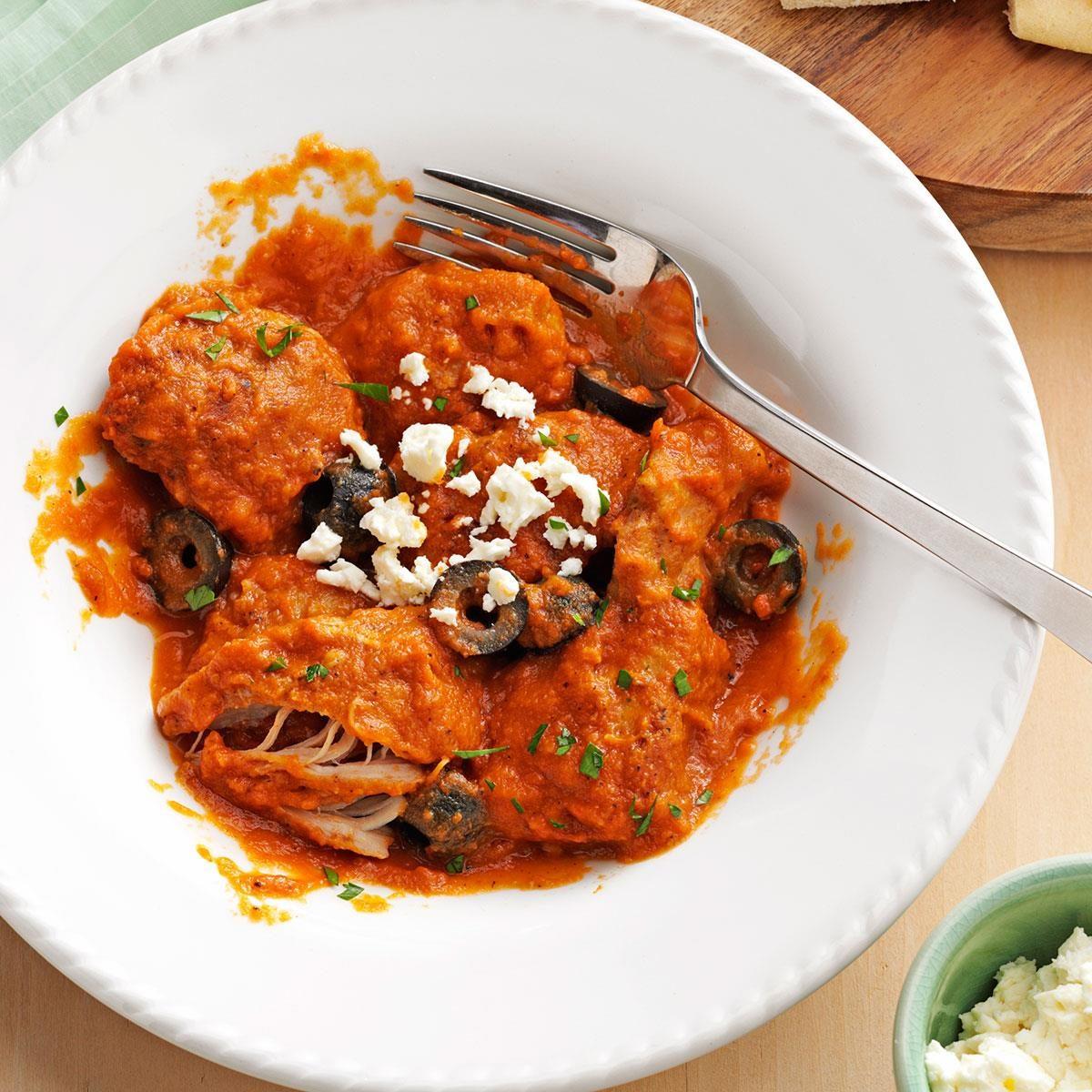Lemon Chicken Mediterranean Style: Mediterranean Chicken In Eggplant Sauce Recipe
