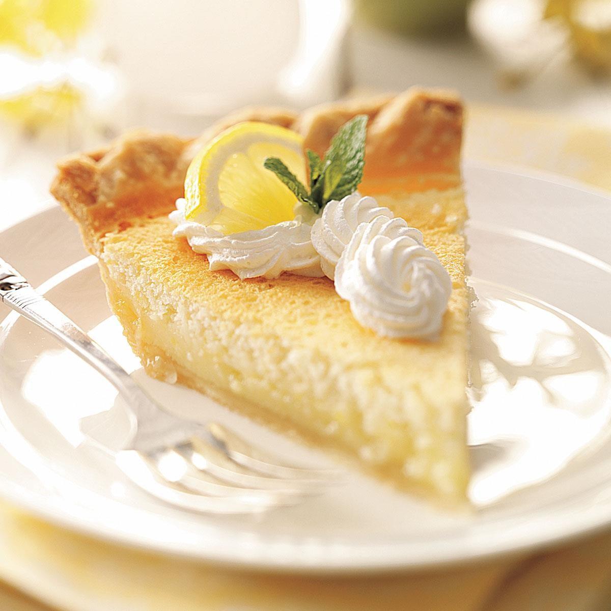 Mom's Lemon Custard Pie Recipe | Taste of Home
