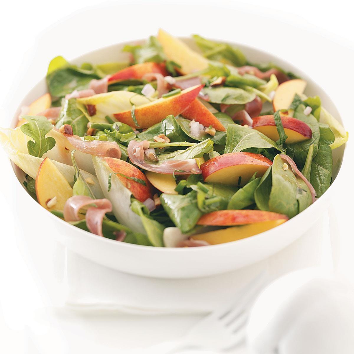 Shrimp Nectarine Salad Recipe: Nectarine, Prosciutto & Endive Salad Recipe