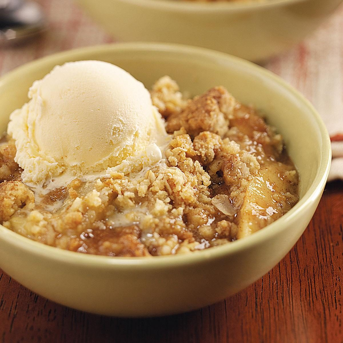 Oat Apple Crisp Recipe | Taste of Home