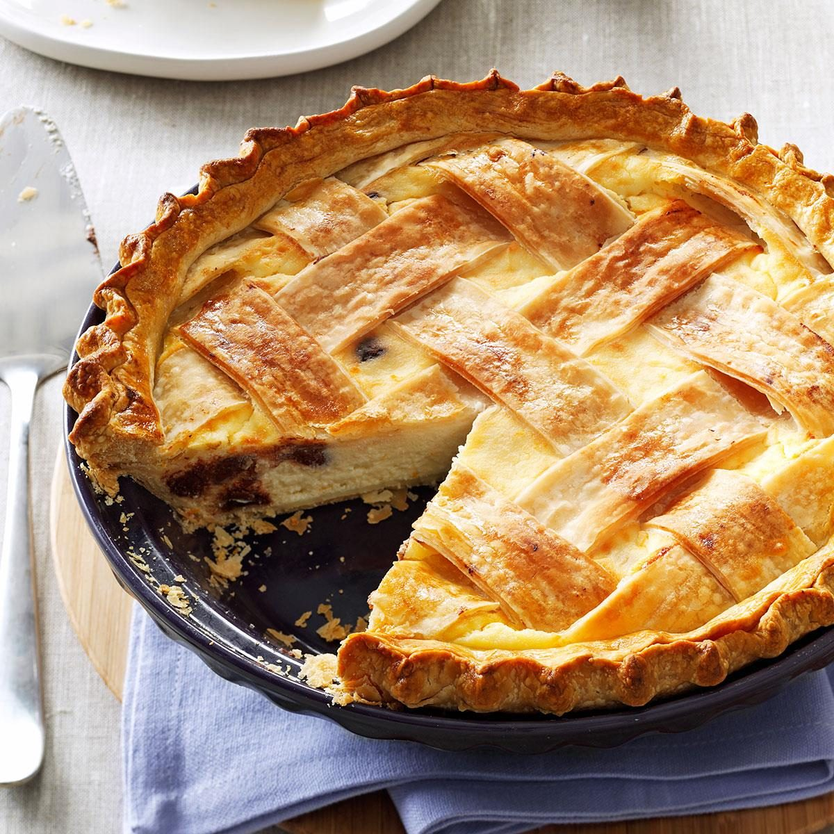 Orange Chocolate Ricotta Pie Recipe | Taste of Home