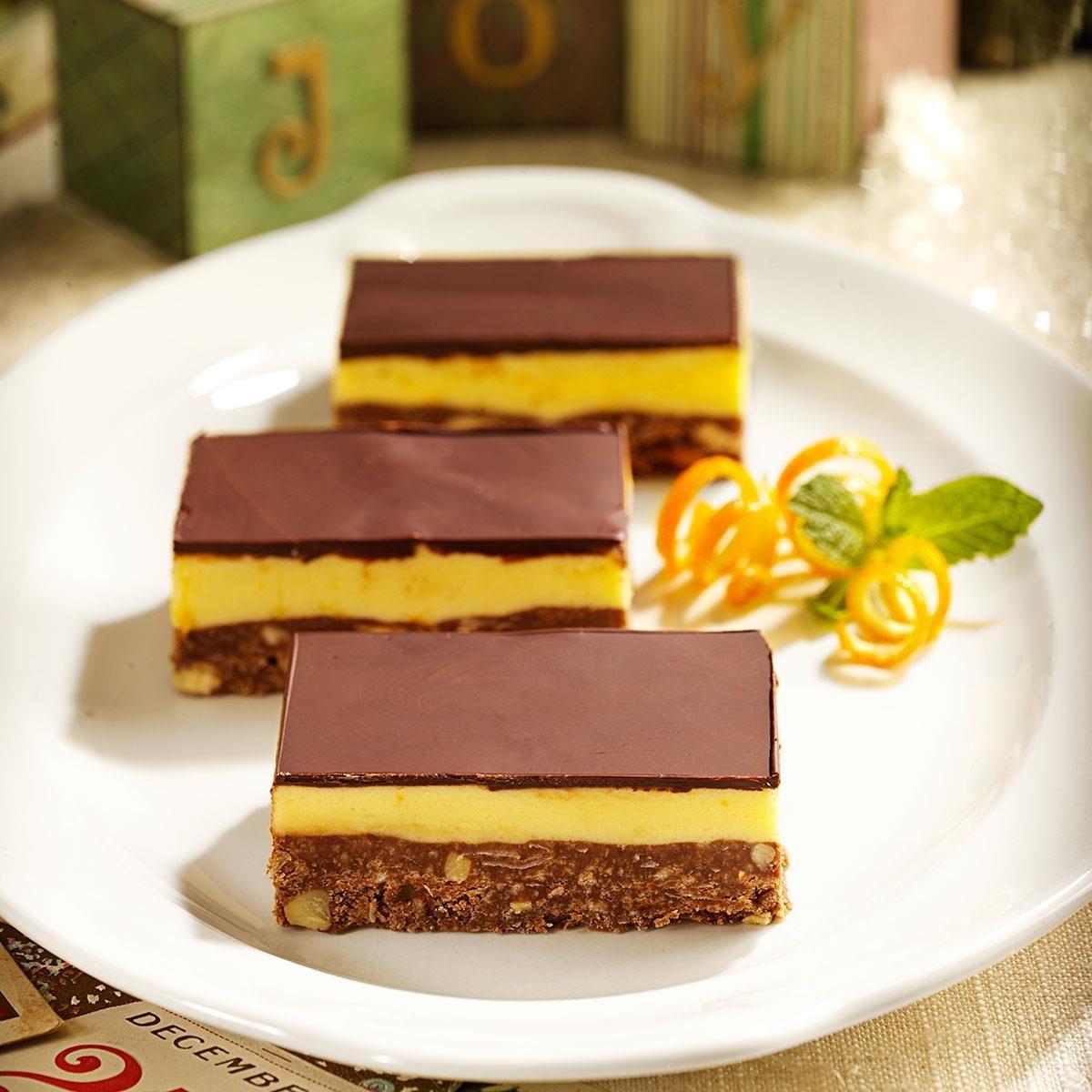 Orange nanaimo bars recipe taste of home for Food bar orange