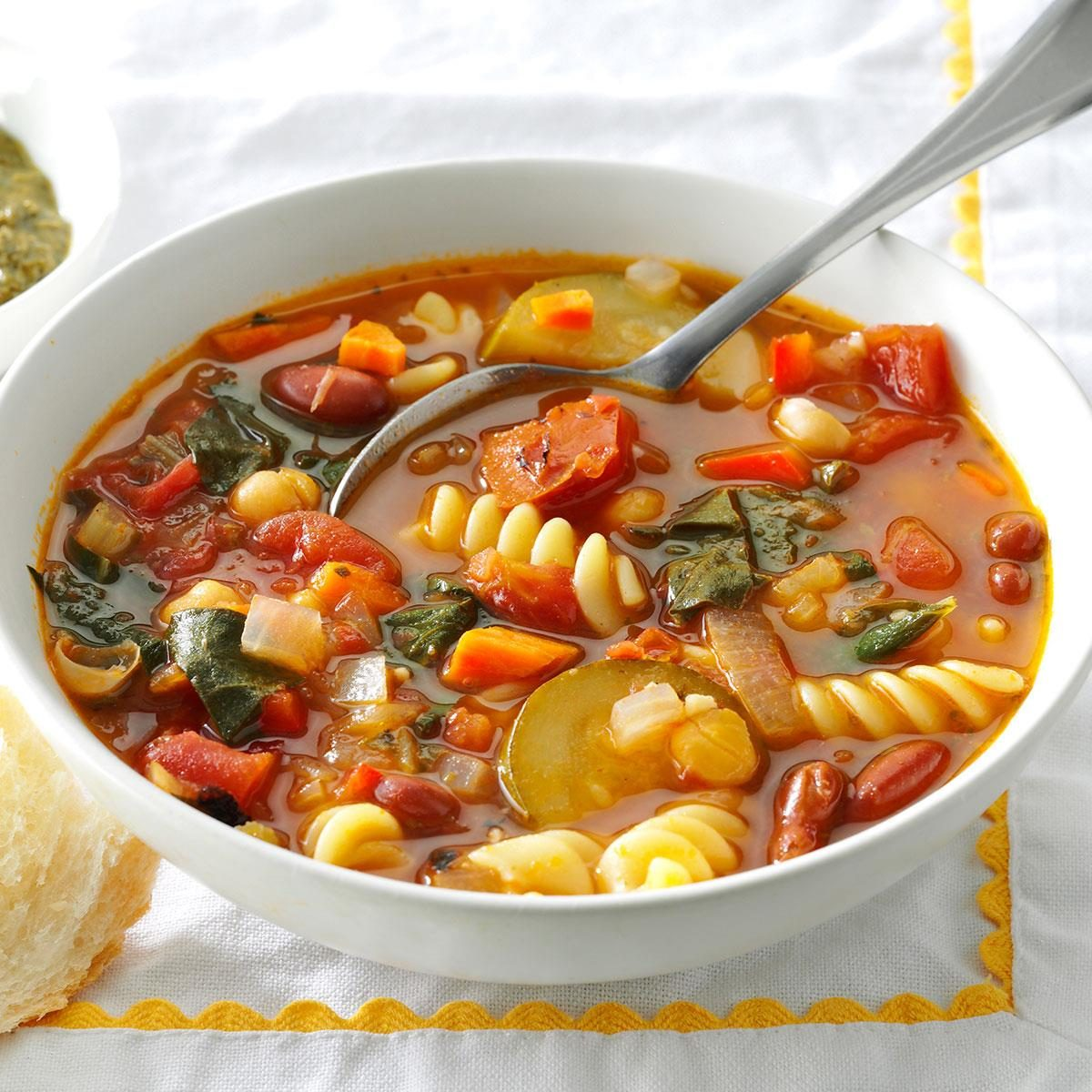 Over The Rainbow Minestrone Recipe Taste Of Home