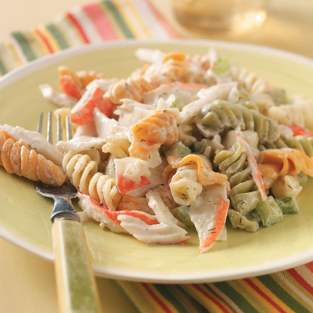 pasta crab salad recipe taste of home