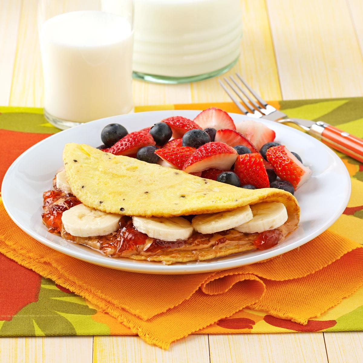 Peanut Butter And Jelly Omelet Recipe Taste Of Home