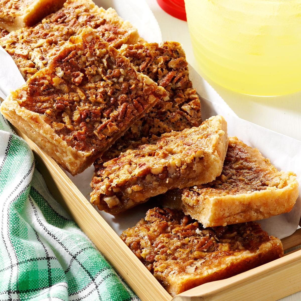 Pecan pie bars for a crowd recipe taste of home for Easy tailgating recipes for a crowd