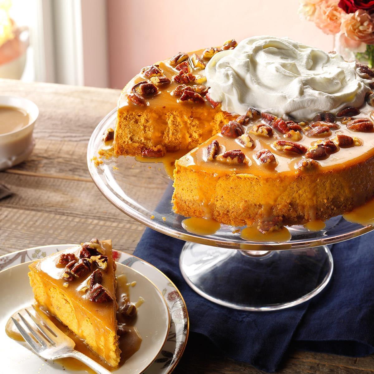 Award Winning Cake Recipes From Scratch: Pecan Pumpkin Cheesecake Recipe