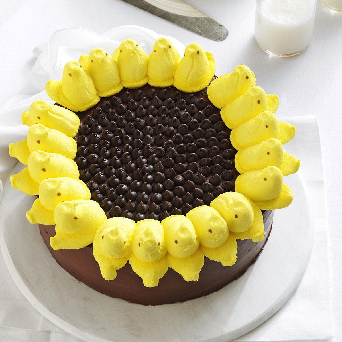 Peeps Sunflower Cake Recipe | Taste of Home