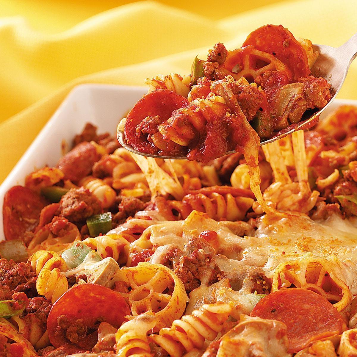 Pepperoni Pasta Recipe Taste Of Home