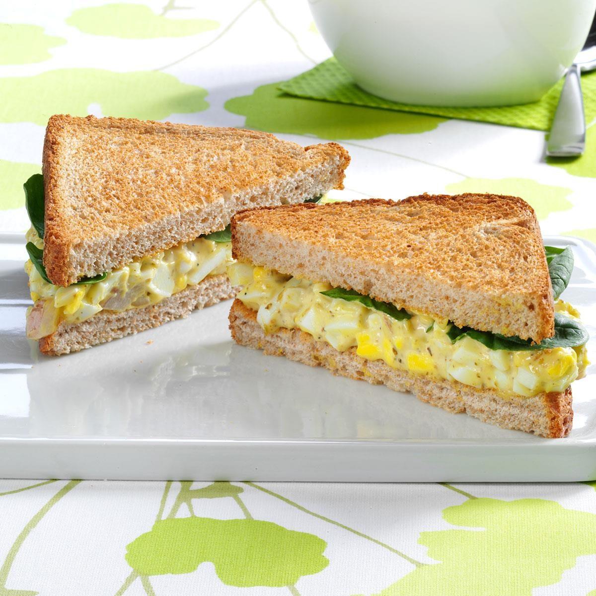 Pesto Egg Salad Sandwiches Recipe | Taste of Home