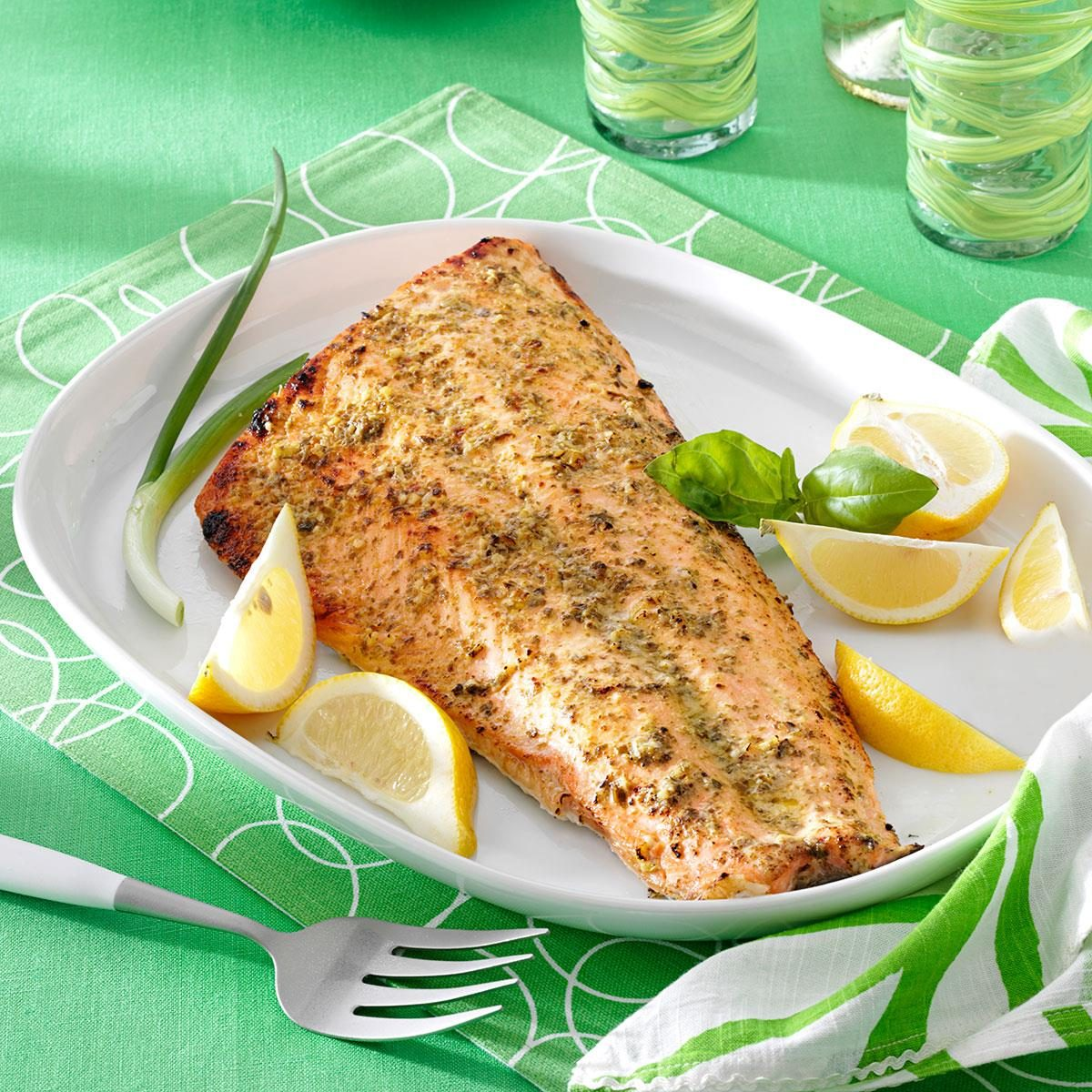 Pesto Grilled Salmon Recipe