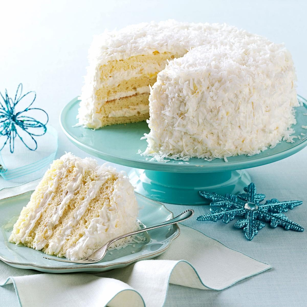 Coconut Cake Recipes With Pictures : Pineapple Coconut Cake Recipe Taste of Home