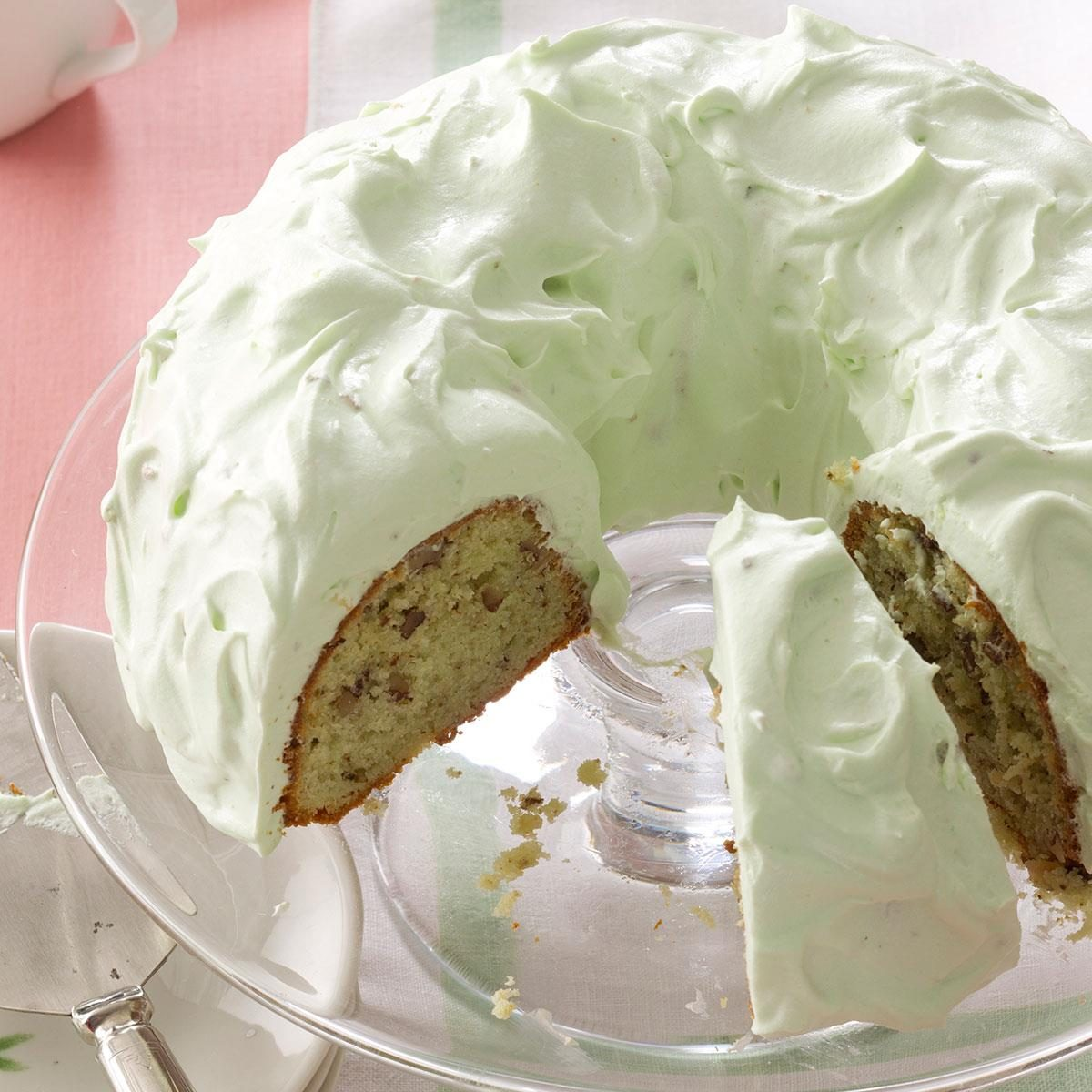 Pistachio Cake With Walnuts Recipe Taste Of Home