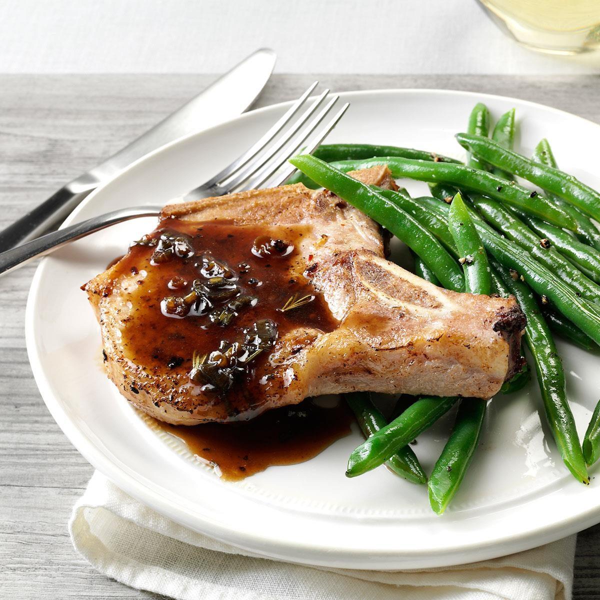 Pork Chops With Honey Balsamic Glaze Recipe Taste Of Home