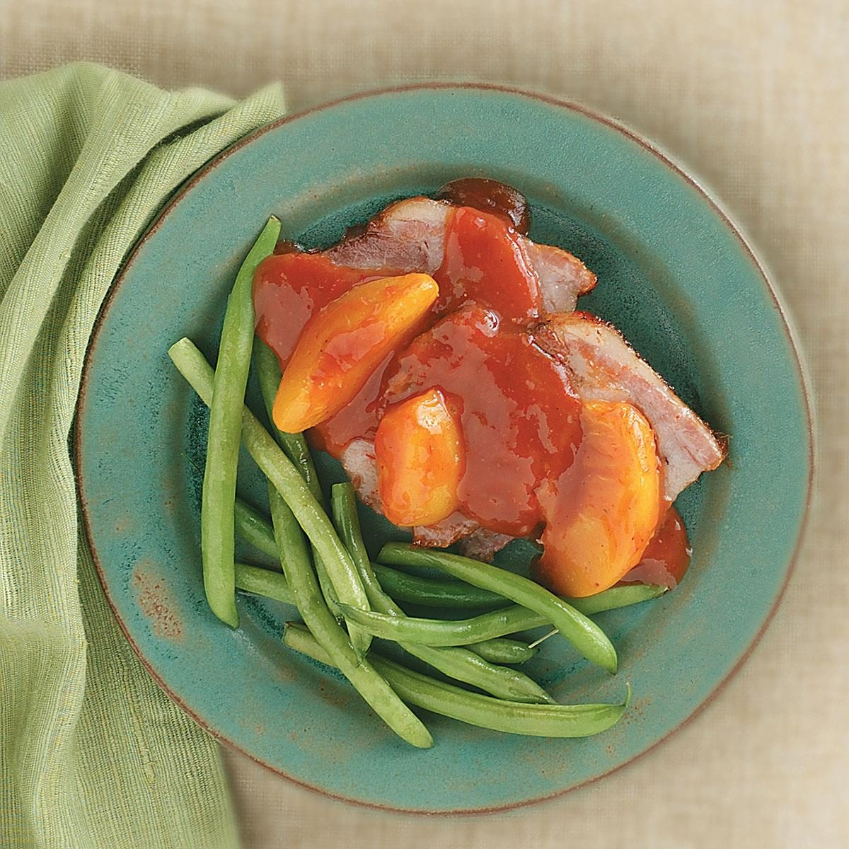 Pork roast with peach sauce recipe taste of home - Christmas pork roast five recipes ...
