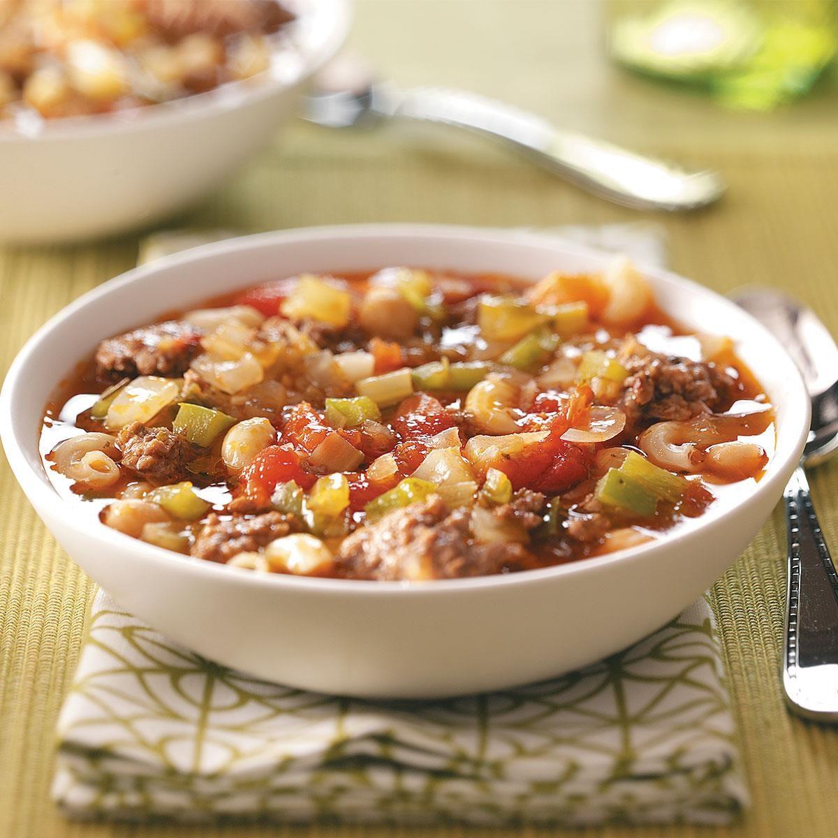 Potluck Pasta Soup Recipe | Taste of Home