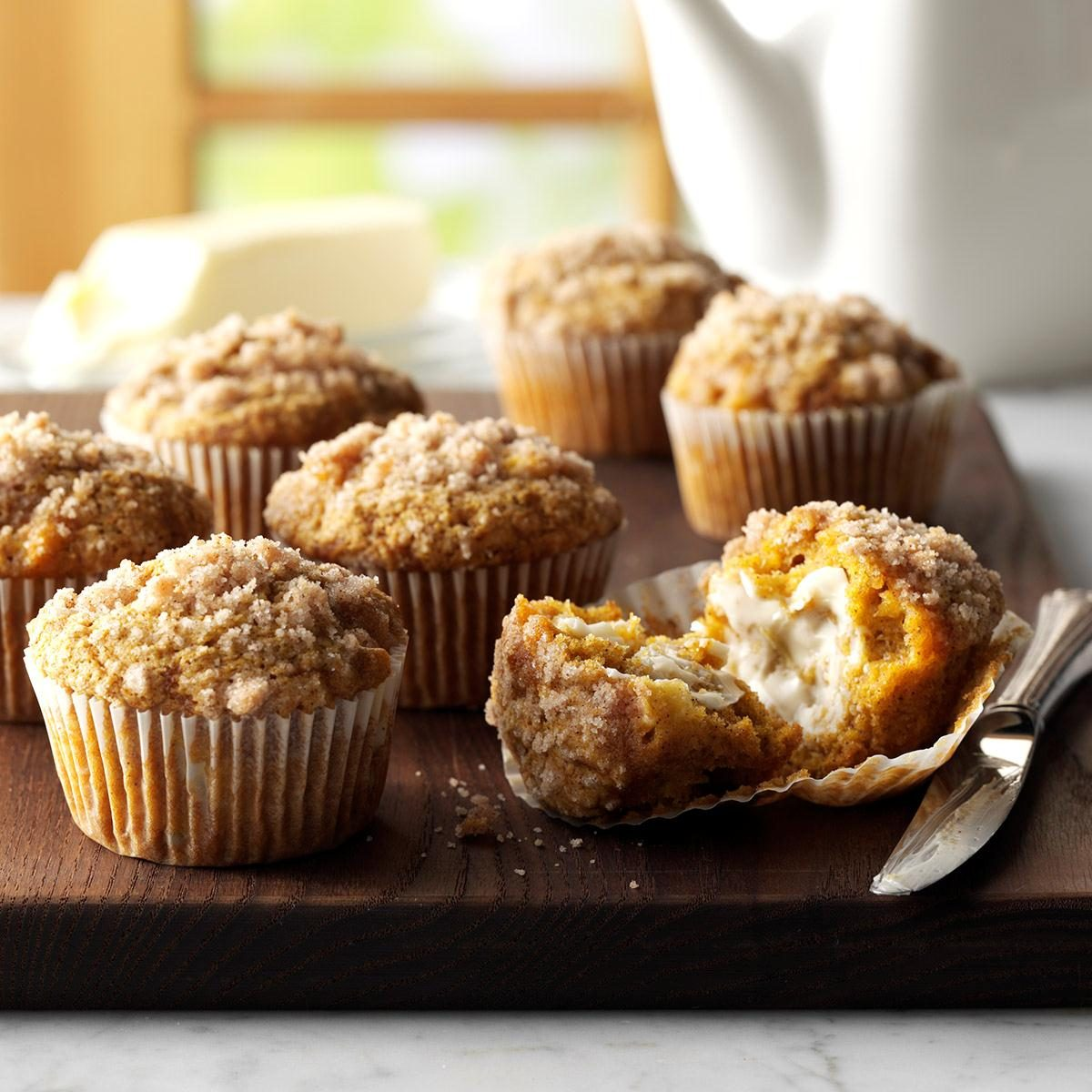 Pumpkin-Apple Muffins with Streusel Topping Recipe | Taste ...