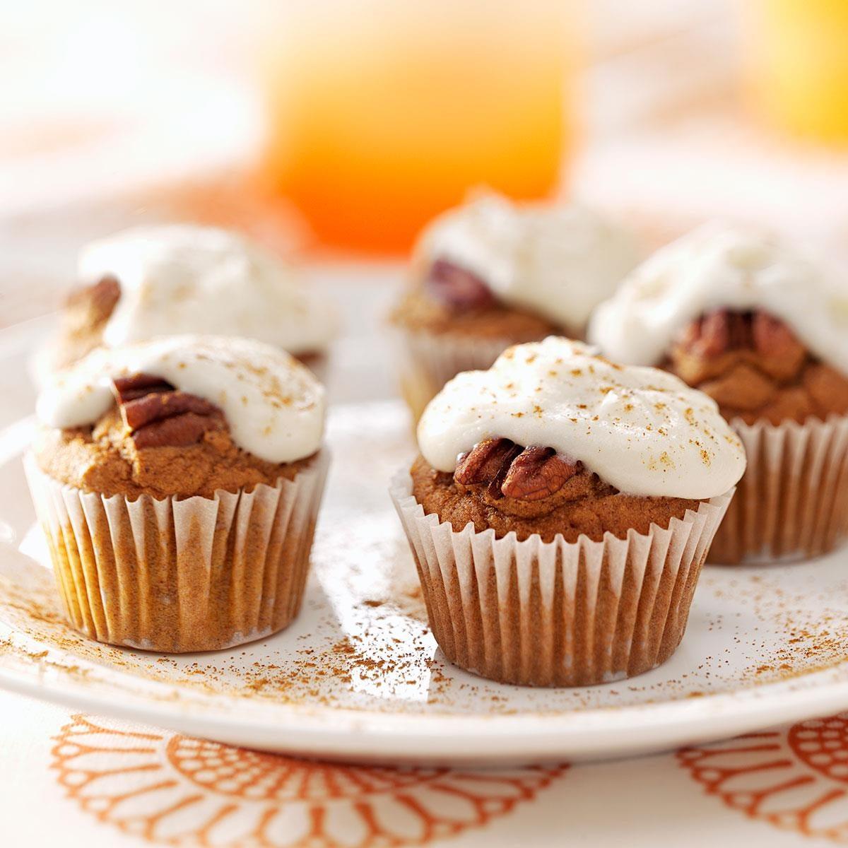 Pumpkin Cupcake Recipes pumpkin pecan bites recipe | taste of home