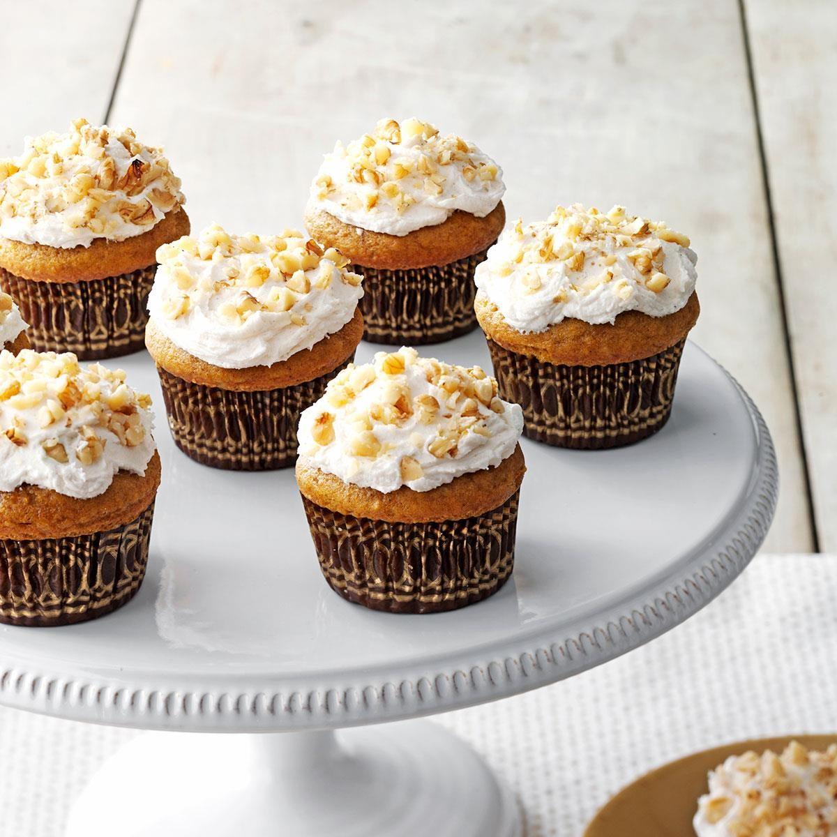 Pumpkin Pie Cupcakes Recipe | Taste of Home