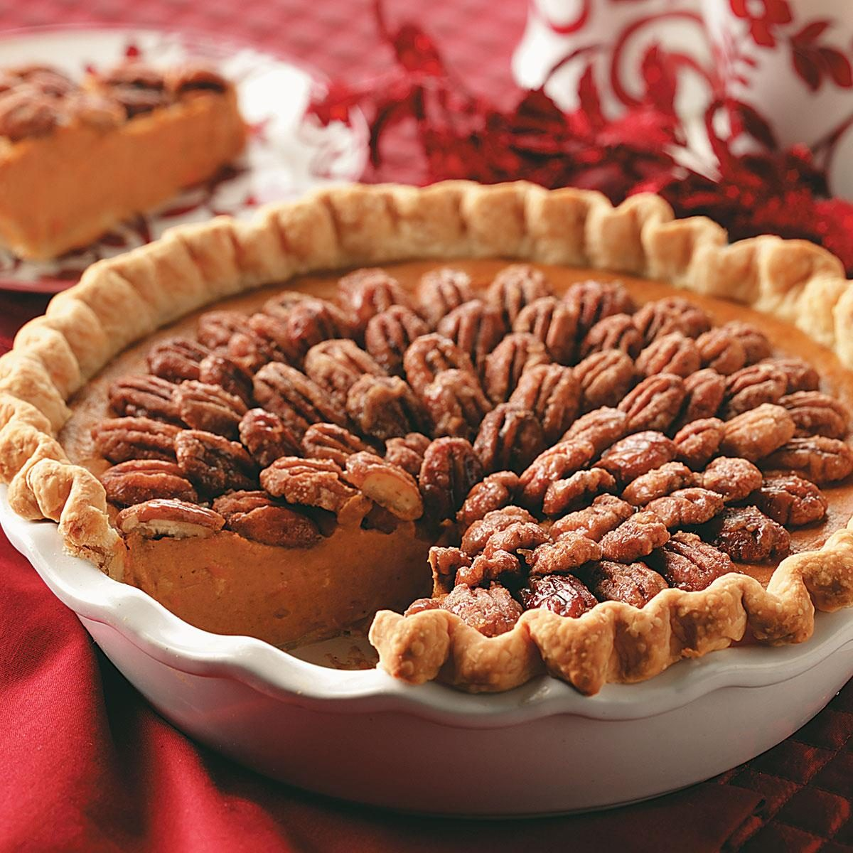 Pumpkin-Sweet Potato Pie with Sugared Pecans Recipe ...