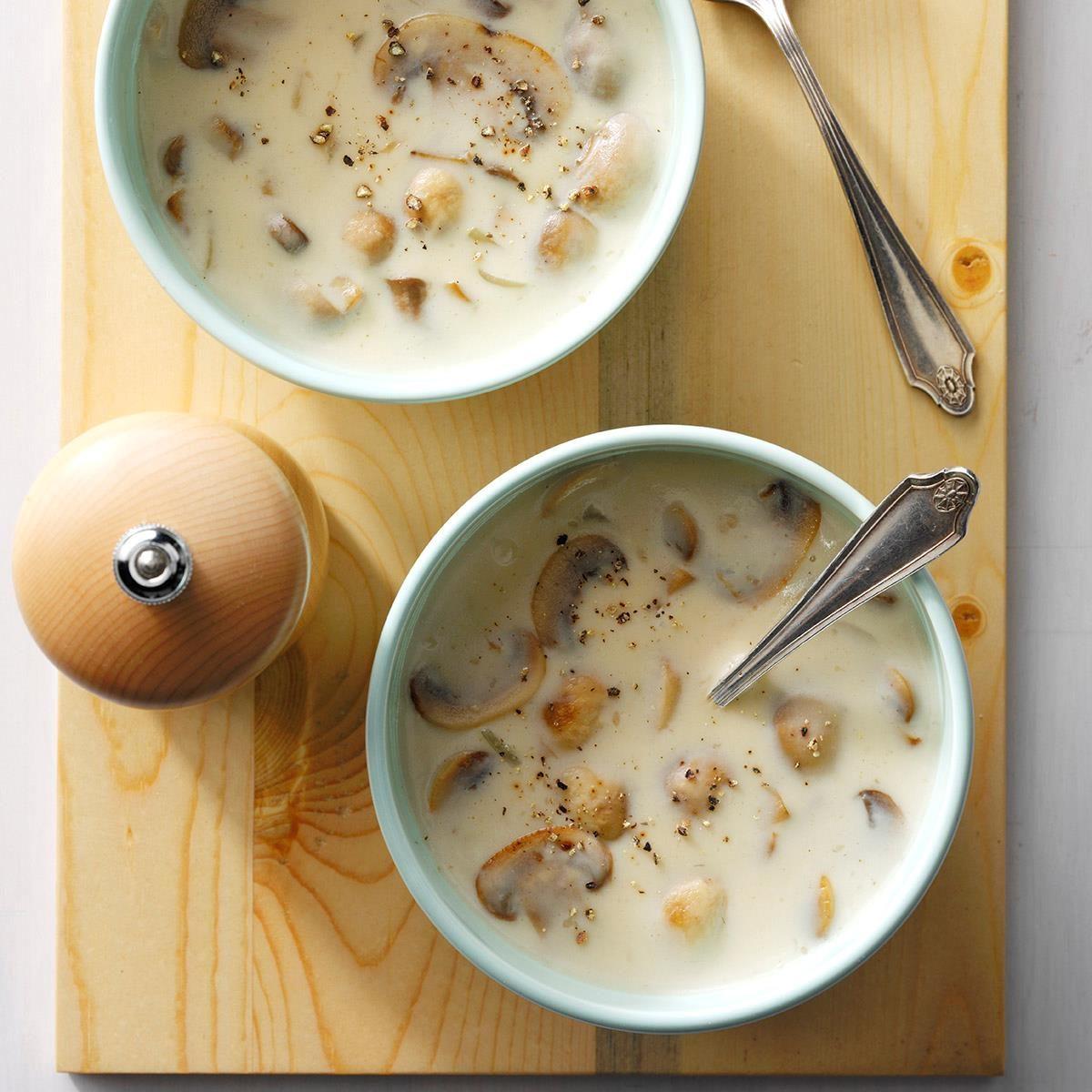 Quick Cream Of Mushroom Soup Recipe