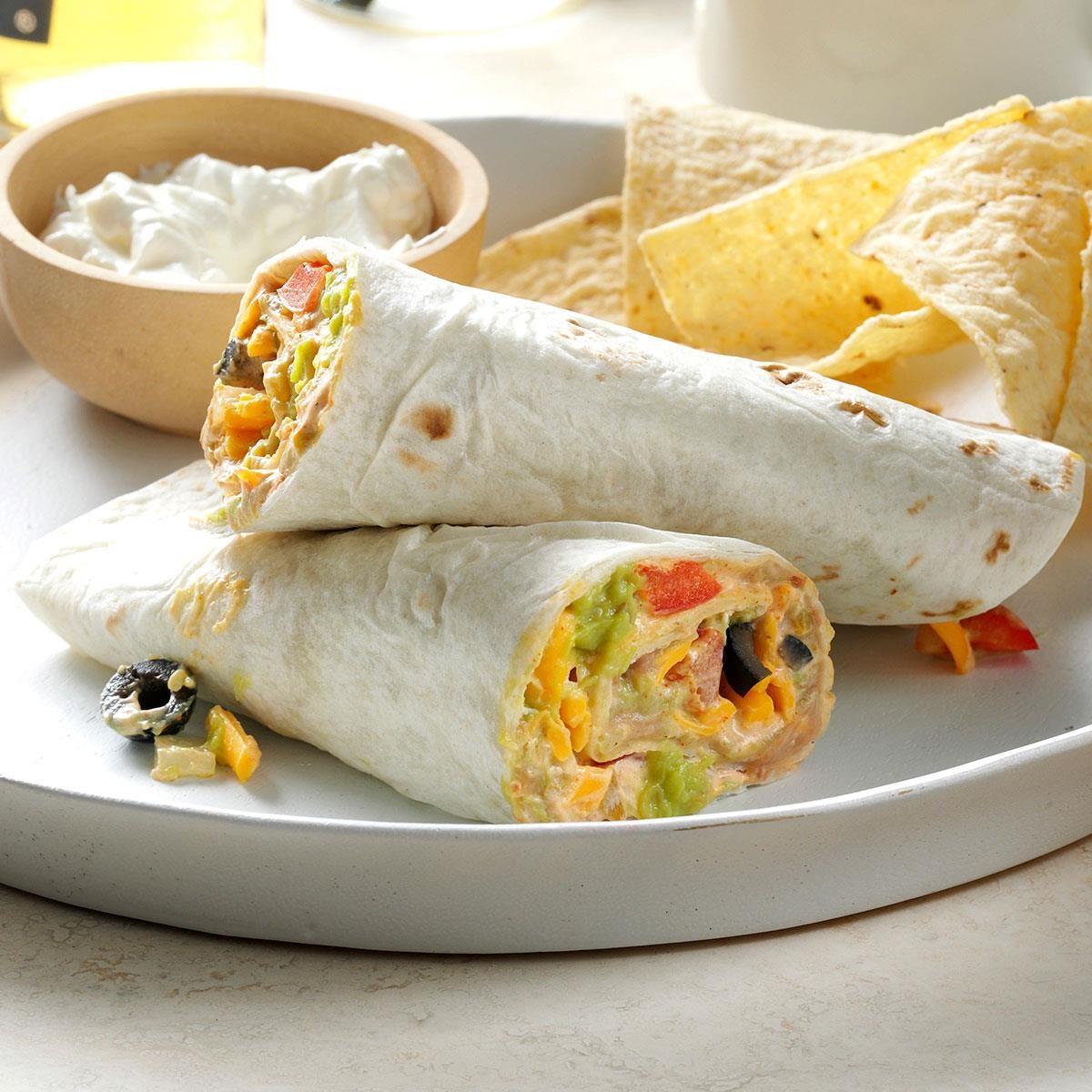 Quick Taco Wraps Recipe Taste Of Home