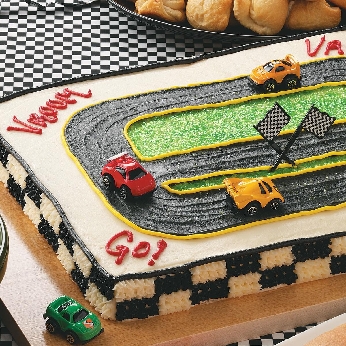 How To Make A Number  Race Track Cake