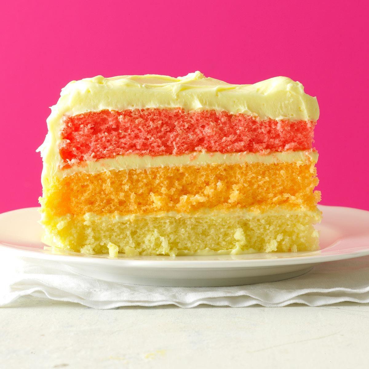 Rainbow Layer Cake Recipe | Taste of Home