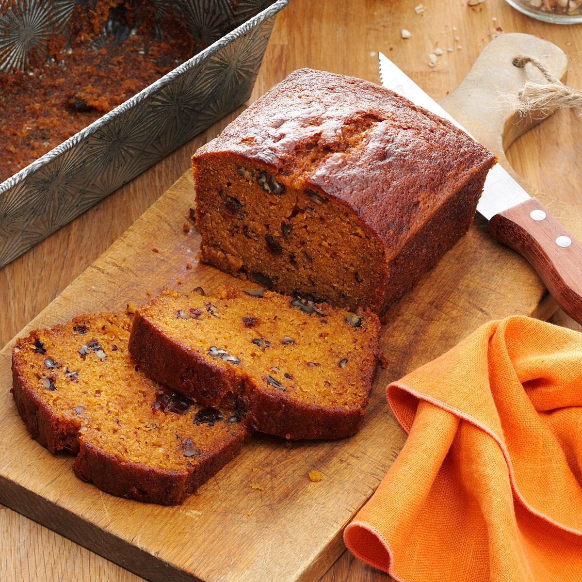Raisin Filled Pumpkin Spice Bread Recipe Taste Of Home