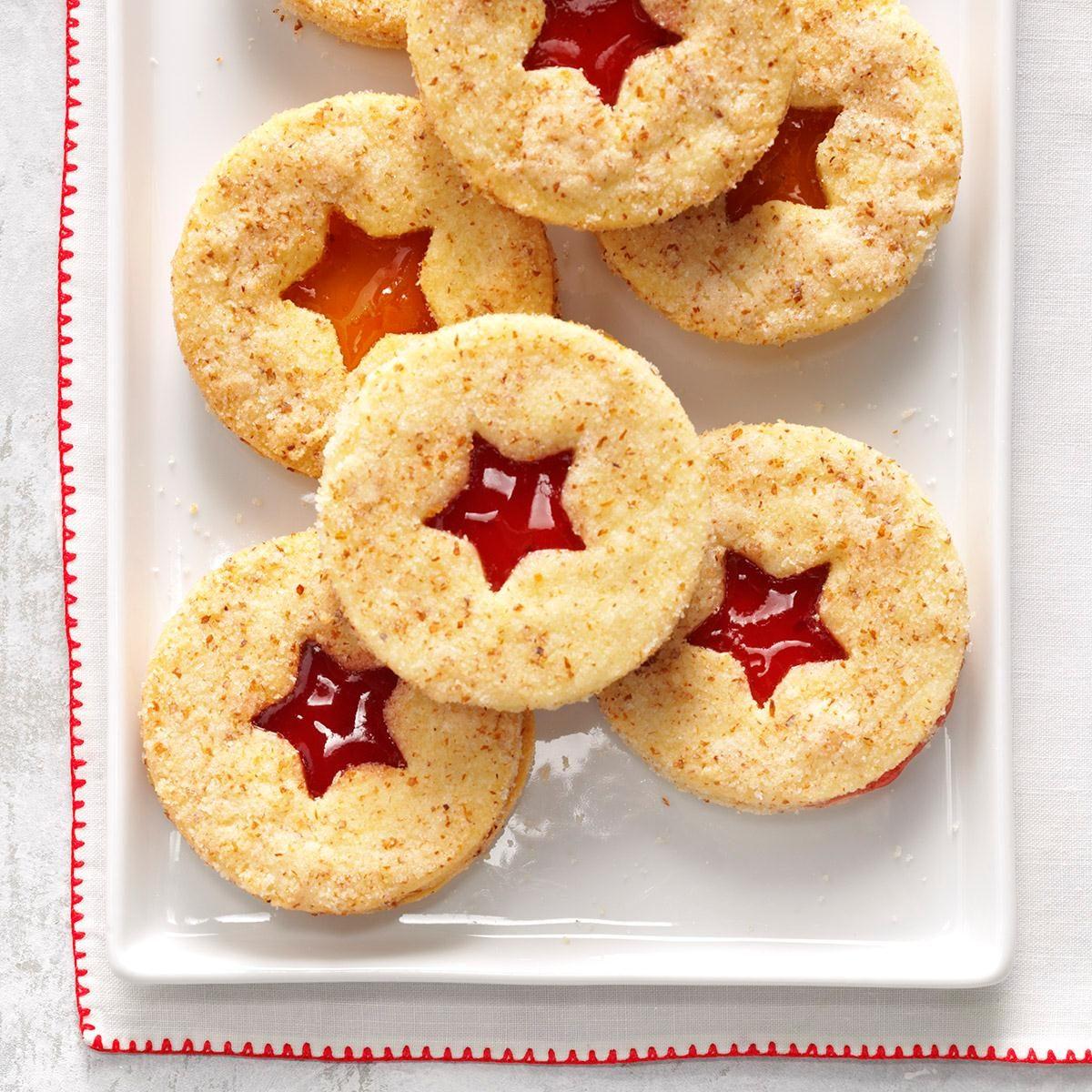Raspberry Linzer Cookies Recipe | Taste of Home